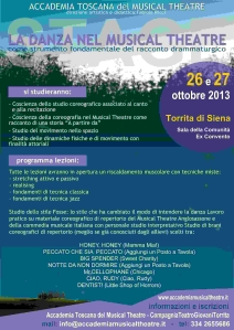 VOLANTINO WORKSHOP LAURA - FABIOLA - OTTOBRE 2013 - RETRO