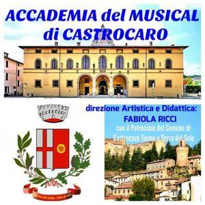 Logo Accademia su Palazzo Pretorio e Panorama Castrocaro