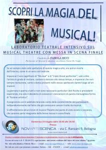 Locandina NovArteScenica Workshop SCOPRI LA MAGIA DEL MUSICAL